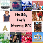 I Adore What I Love - Monthly Musts February 2016 - Title Photo